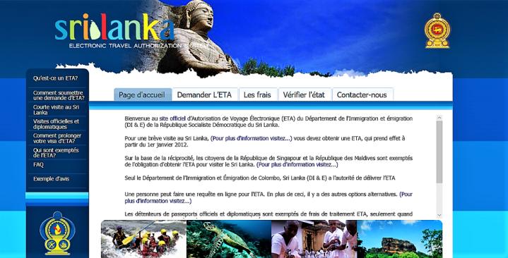 Sri Lanka: comment remplir sa demande d'ETA ( avec ou sans enfant)